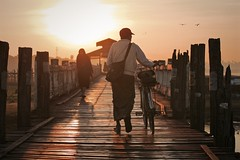 Morning Stroll - Amarapura, Myanmar (JR Marquina) Tags: southeastasia explore travel ubeinbridge amarapura myanmar burma ngc