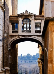 Windows on the Palatine (joanne clifford) Tags: flyingwalkway arches palazzosenatorio piazzadelcampidoglio palatinehill architecture arch hww windowwednesday elevatedwalkway walkway passageway