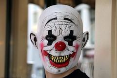 """SMILE"" (Rick & Bart) Tags: amsterdam mokum holland thenetherlands city urban rickvink rickbart canon eos70d mask face clown redlightdistrict"