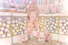 Gift-Wrapped (Gabriella Marshdevil ~ Trying to catch up!) Tags: sl secondlife cute kawaii doll pastel mossmink lagom halfdeer girlpower ayashi gacha horntail mudskin
