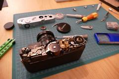 Canon 7 Rangefinder (rainer.marx) Tags: canon7 rangefinder messsucher 35mm analog film kleinbild lumix panasonic fz1000 voigtländer leica