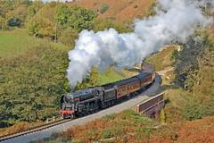 Climbing to Goathland (paul_braybrook) Tags: brstandard class9f steamlocomotive darnholme northyorkshiremoors nymr goathland heritage railway trains