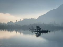 Ullswater (burnsmeisterj) Tags: olympus omd em1 cumbria lakedistrict ullswater trees mist water lake island