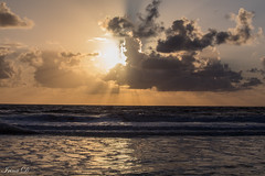 Spectacle of light (Irina1010) Tags: sunrise clouds ocean water waves rays reflections morning nature beautiful moment canon saintaugustine october 2018 coth ngc coth5 npc outstandingromanianaphotographers