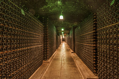 """One of the wine-cellar """"caves"""" at the Schramsberg Vineyard winery in California's Napa Valley. Original image from Carol M. Highsmith's America, Library of Congress collection. Digitally enhanced by rawpixel. (Free Public Domain Illustrations by rawpixel) Tags: otherkeywords tags aging america american bottles california carolhighsmith carolmhighsmith cave cc0 cellar dark incubate name napa napacounty napavalley process schramsberg schramsbergvineyard storage stored underground unitedstates unitedstatesofamerica us usa vineyard wine winecellar wineries winery"""