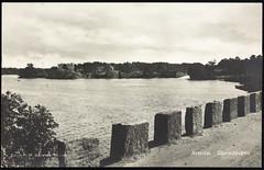 Postkort fra Agder (Avtrykket) Tags: postkort stabbestein vassdrag vei arendal austagder norway nor