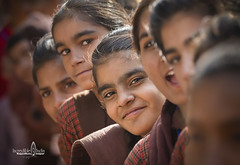 School days (Albert Photo) Tags: india schooldays student schoolchild hightschoolstudent lineup asia asian girl lady children maiden teenagers rajasthan depthoffield people