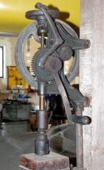 Vintage Drill Press (RedRipper24) Tags: vintagetools antiquetools vintagehardware equipment americana vintage antique oregon oregon2018 ruraloregon