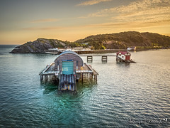 Mumbles Lifeboat Station Old and New (Anthony de Schoolmeester) Tags: mumbles lifeboatstation lifeboat old new water sea seascape swansea sunset goldenlight goldenhour drone dronephotography aerialphotography aerialview djimavicpro daithedrone wales southwales visitwales