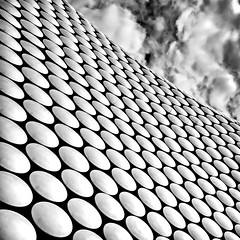 056 The Bull Ring (georgestanden) Tags: minimalism minimalist minimal minimalistic photooftheday simple simplicity lessismore negativespace picture blackandwhite black white monochrome desaturated photo photography photograph bnw art blackandwhitephotography bw monoart blackwhite thebullring architecture abstract building clouds square uk modern city cityscape facade circles pattern