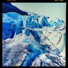 Exit Glacier, AK, USA (Mister Electron) Tags: 120rollfilm biometar80mmf28 carlzeiss carlzeissjena fuji fujichromevelvia50 fulichrome mediumformat pentacon6 analogue diapositive film positive rollfilm silverhalide transparency exitglacier glacier ice frozen climate glaciation alaska usa northamerica glacial cold