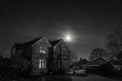 Starry (and moony) night :) (HonleyA) Tags: ricohgr gr2 mono blackandwhite house night
