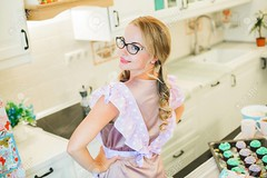 (TM UB) Tags: kitchen people woman girl pink standing apron happy smiling home glasses beautiful female cook cooking adult casual caucasian cheerful girlfriend happiness person portrait white women blonde young attractive beauty clean clothing homemade healthy indoors interior life lifestyle maid one wife housewife pleasure looking positive face wash 30