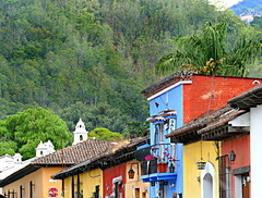 The Edge of Town (Colorado Sands) Tags: guatemala centralamerica town edgeoftown hillside building sandraleidholdt centralamerican antigua alto colorful