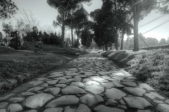 Ancient Appian Way (Rome) (rickybon) Tags: bw appianway rome pentaxk5 pentaxflickraward pentaxart pentax k5 riccardobonelli greaterphotographers