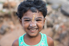 Pondicherry Portraits (Geraint Rowland Photography) Tags: portrait childportrait hindu hindi children indianchildren wwwgeraintrowlandcouk happy cute naturalportraits smile smilingchildren bokeh depthoffield 50mmportraits streetportraits geraintrowlandphotography canonindia 5dphotography face headshots naturallightportraits