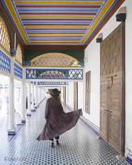 Palacio Bahia (kinojam) Tags: marrakech bahia bahiapalace girl portrait movimiento azulejo mosaico columnas patio kino kinojam canon canon6d