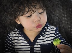What IS This (Tamantha29) Tags: food curlyhair lunchtime babyeating vegetables broccoli mixedbaby baby