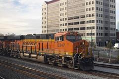 BNSF 8347 (imartin92) Tags: emeryville california bnsf railroad railway freight train ge generalelectric gevo es44ac locomotive