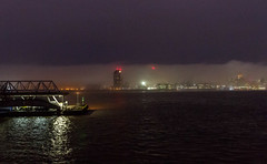 Fog on the Mersey (Philip Brookes) Tags: fog weather mist rain water river cloud liverpool wirral uk seacombe ferry port merseyside england britain night reflection