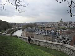 City and Sambre River, view from the Citadelle, Namur, Belgium (Paul McClure DC) Tags: namur namen belgium belgique wallonia wallonie feb2018 historic architecture scenery castle citadel river sambre cathedral ardennes