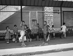 Children (Beegee49) Tags: street children waiting blackandwhite monochrome bw luminar happy planet people sony a6000 bacolod city philippines asia