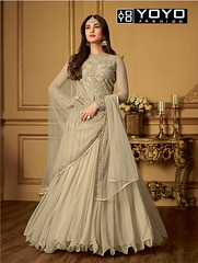 Designer #BeigeAnarkaliSalwarSuit Online On #YOYOFashion. (yoyo_fashion) Tags: style fashion beigedress dresses anarkalisuit suits shopping offers anarakali