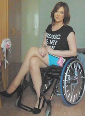 Legs and Heels (jackcast2015) Tags: handicapped disabledwoman crippledwoman wheelchair paraplegic paraplegicwoman