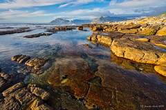 Kommetjie coast, South Africa (NettyA) Tags: 2017 africa capetown day3 hoerikwaggotrail kommetjie slangkop southafrica tablemountainnationalpark clouds coastal hike hiking lichen rocks seascape water sea