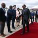 Llegada de Paul Kagame, presidente de Ruanda