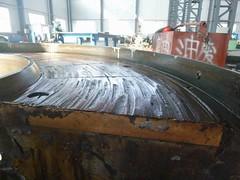 Resize of P1360913 (OpalStream) Tags: rudder marine vessel repair works overhauling workshop measurements filler gauge dirt