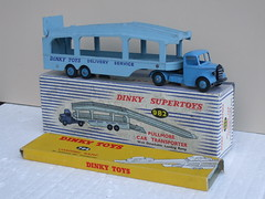Vintage 1950's Dinky Supertoys Pullmore Car Transporter Boxed & Spare Boxed Loading Ramp (beetle2001cybergreen) Tags: vintage 1950s dinky toys pullmore car transporter boxed spare loading ramp supertoys