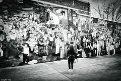 Art is standing (gusdiaz) Tags: mural art city urban graffiti xt2 fuji fujifilm charlotte nc bw black white blanco negro ciudad arte artistico wife love woman esposa amor beautiful urbano wall pared
