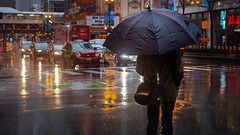 Solitary Moments ☔ (Jovan Jimenez) Tags: canon eos 70d ef 40mm f28 stm people streetphotography man rain cinematic city chicago raining umbrella refection