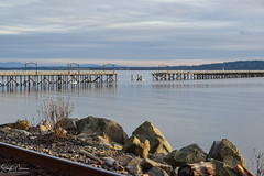 White Rock Pier & Promenade - After the Storm (SonjaPetersonPh♡tography) Tags: britishcolumbia canada storm winds damage devastation water pacificocean ocean bc nikon nikond5300 whiterock whiterockpromenade whiterockpierpromenade whiterockpier promenade city southsurrey driftwood beach shore shoreline pier railway westbeach eastbeach