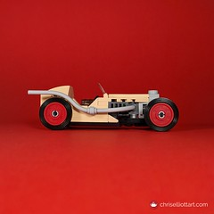 1928 Nike Streamliner Custom (ChrisElliottArt) Tags: 1928 1920s 20s nike steamliner racecar car vehicle vintage retro tan red square openwheel exhaust classic antique roadster racer race sports motorsport sportscar chriselliottart