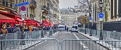 protecting Notre Dame (albyn.davis) Tags: street police paris france europe travel winter people urban city barricade fence