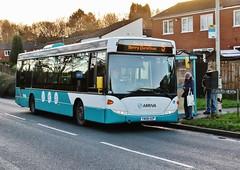 Arriva 3503 (YN08 HZP) on Tamworth route 5 (Derningtona) Tags: arriva tamworth merrychristmas scaniaomnilink route65branding
