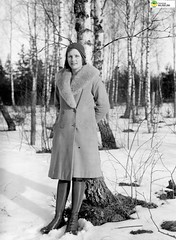 tm_5890 - 1931 (Tidaholms Museum) Tags: svartvit positiv vinter snö träd skog 1931 1930talet
