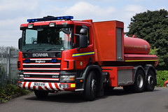 Warwickshire - BU53VYK - Coleshill - PM (matthewleggott) Tags: warwickshire fire rescue service engine appliance coleshill bu53vyk pm prime mover scania angloco water carrier wrc