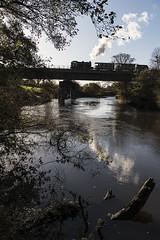 Crossing the Avon (powern56) Tags: avr avonvalleyrailway bitton bristol riveravon southgloucestershire heritagerailway railwaybridge freighttrain austerity 060st 132 sapper