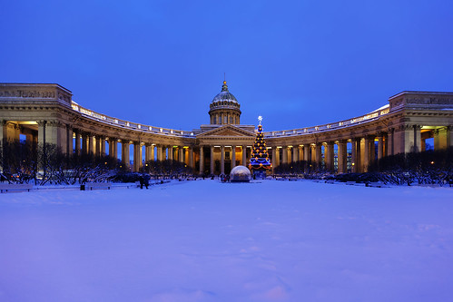 Kazan Cathedral. Christmas.