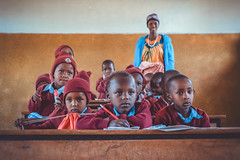 Class (u c c r o w) Tags: massai maasai children tanzanian tanzania teacher student students africa african portrait uccrow colors colorful school schule okul unterricht kids girl boy