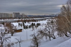 Imitating Peter Bruegel / but the hunters have already left :-( (vitalsimonov) Tags: architecture moscow russia winter landscape forest river