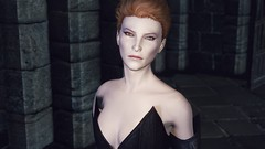 Moira, by your side. (Snow.Whiite) Tags: overwatch skyrim screenshot skyrimmods pose mods moira female face