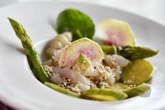 légumes et Saint Jacques (fred9210) Tags: legumes st jacques plat verdure sésame dégustation cullinaire saveurs assiette radis