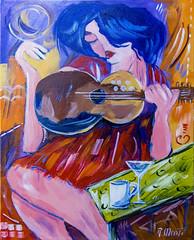 le chanteur (Ronald Menti) Tags: painting pittura dipinto acrylic