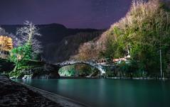 Makhuntseti Bridge at Night (free3yourmind) Tags: makhuntseti bridge night sky stars starry water river riverbank trees nature mountains caucasus georgia adjara batumi arched