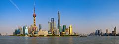 Pudong Panorama (hapePHOTOGRAPHIX) Tags: 156chi 156sha asia asien china fujixe3 huangpu jinmaotower orientalpearltvtower panorama shanghai shanghaiworldfinancialcenter shanghái thebund dsplyys hapephotographix 上海 东方明珠电视塔 外滩 金茂大厦 shanghaishi cn