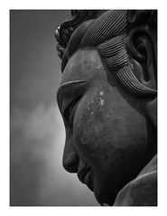 Big Buddha (wwarby) Tags: asia buddhist hongkong lantauisland polinmonastery abroad blackandwhite bordered buddha buddhism fareast favourites holiday holiday2018asia monastery outdoors religion religious sculpture statue temple vacation